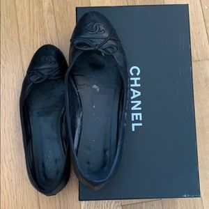 Chanel ballet flats-Size 39- AUTHENTIC-Used